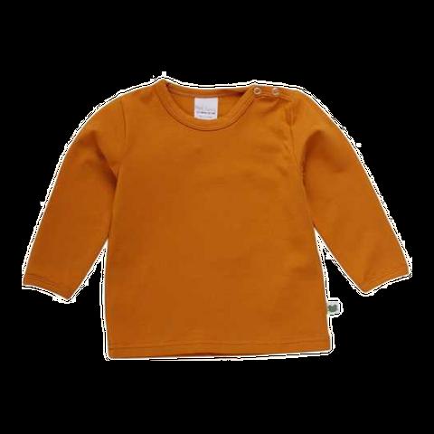 Bluză uni galben muștar din bumbac organic