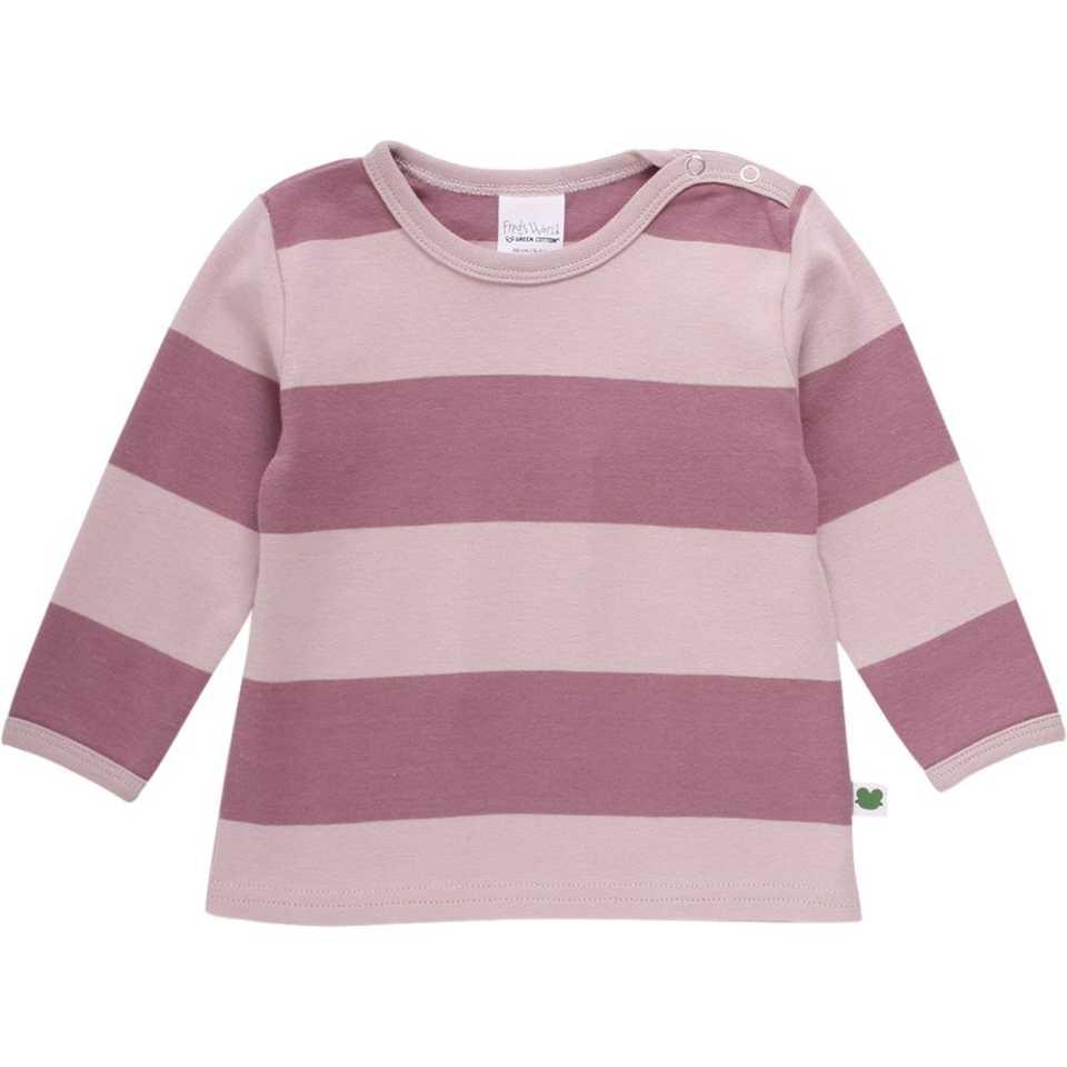 Bluză roz cu dungi late și capse