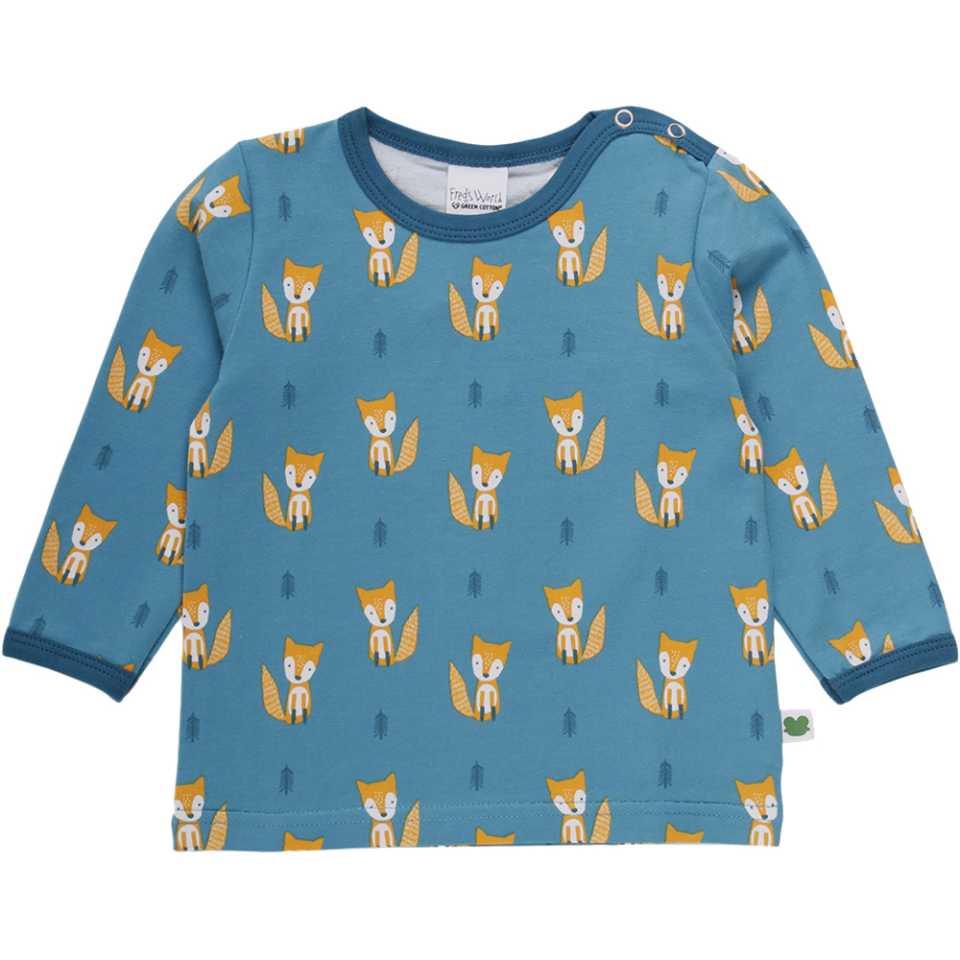 Bluză cu mânecă lungă și imprimeu cu vulpițe