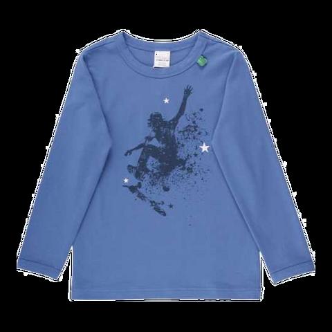 Bluză albastră cu imprimeu skate