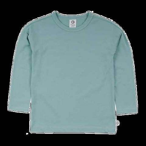 Bluză bleu prăfuit din bumbac organic pentru copii