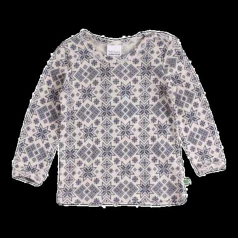 Bluză din lână 100% cu imprimeu