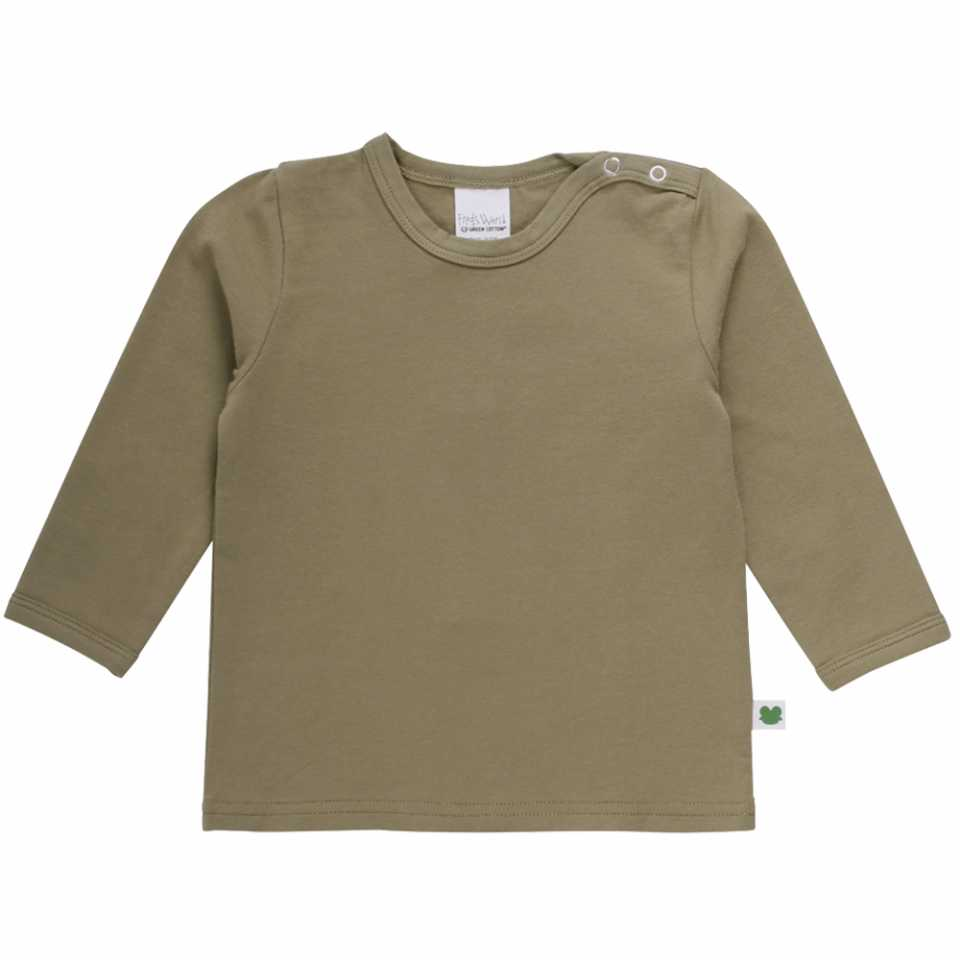 Bluză Alfa uni cu mânecă lungă și capse pe umăr