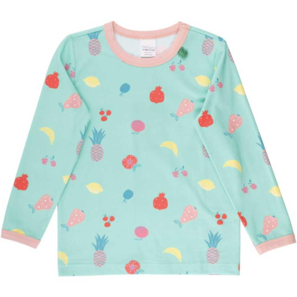 Bluză pentru copii cu mânecă lungă și imprimeu fructe