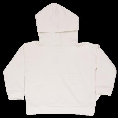 Hanorac alb din bumbac organic cu polar pe interior