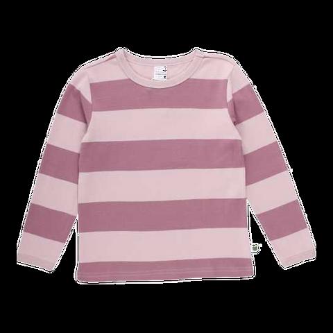 Bluză roz cu dungi late