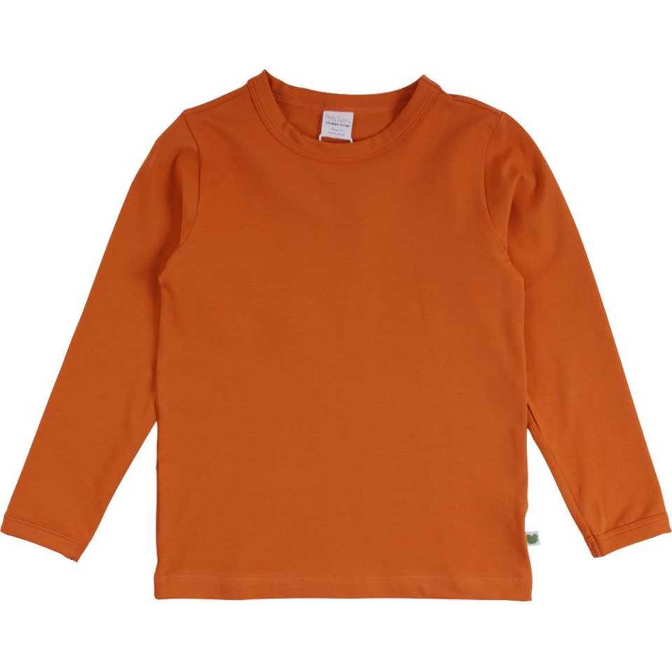 Bluză uni portocalie din bumbac organic