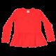 Bluză roșie cu mânecă lungă și peplum