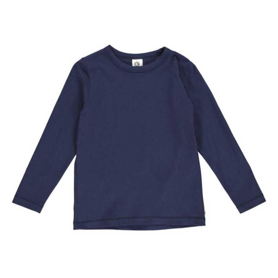 Bluză uni bleumarin din bumbac organic