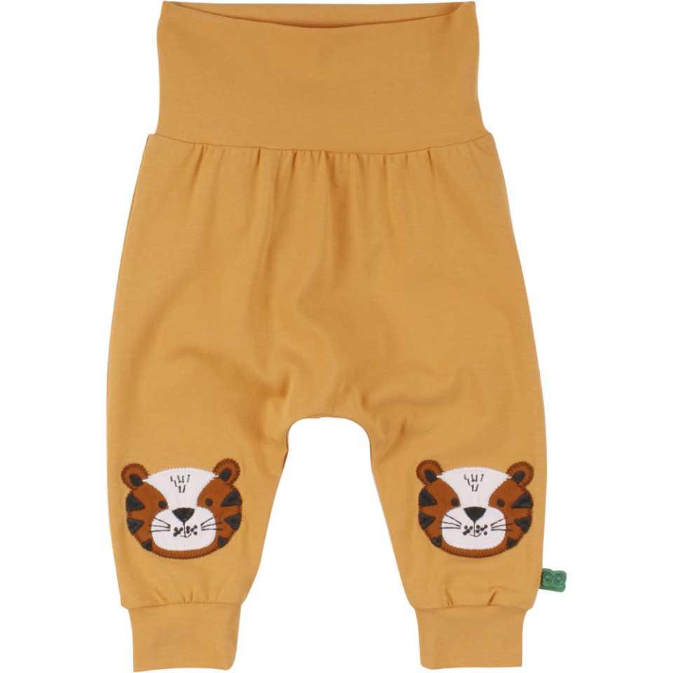 Pantaloni confortabili cu imprimeu cusut în genunchi