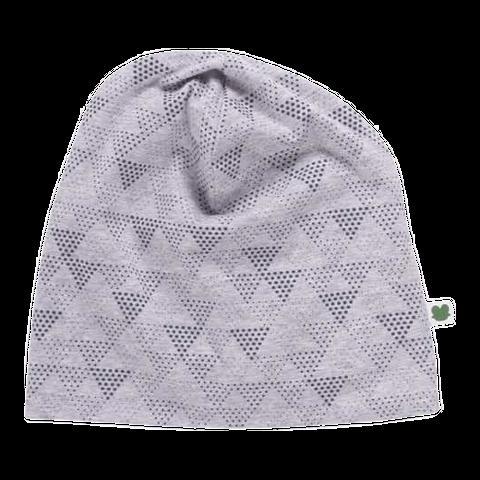 Căciulă gri deschis cu imprimeu geometric