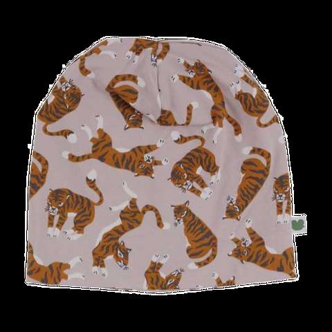 Căciulă roz cu imprimeu cu tigrii