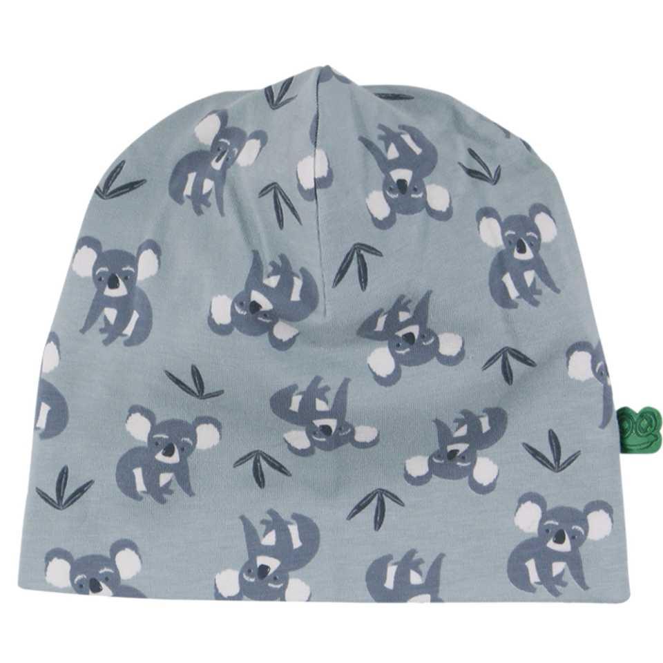 Căciulă bleu prăfuit cu imprimeu urși koala