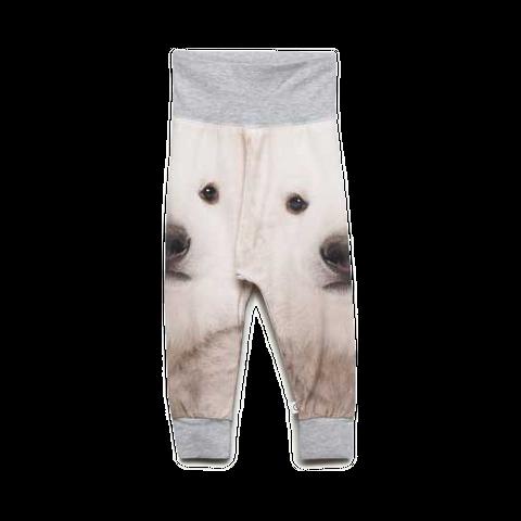 Pantaloni din bumbac organic cu imprimeu urși
