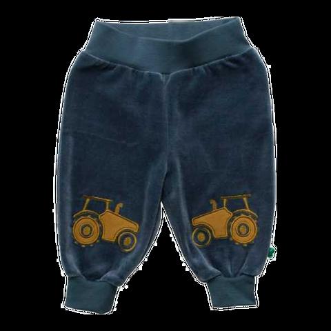 Pantaloni comozi din catifea cu imprimeu tractotașe