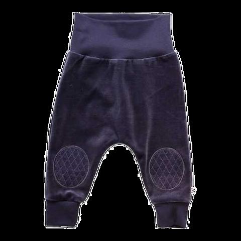 Pantaloni bleumarin din catifea cu genunchi întăriți