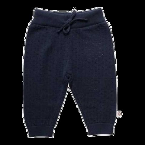 Pantaloni bleumarin tricotați din 100% bumbac