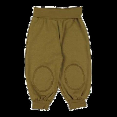 Pantaloni Alfa olive din bumbac organic pentru copii