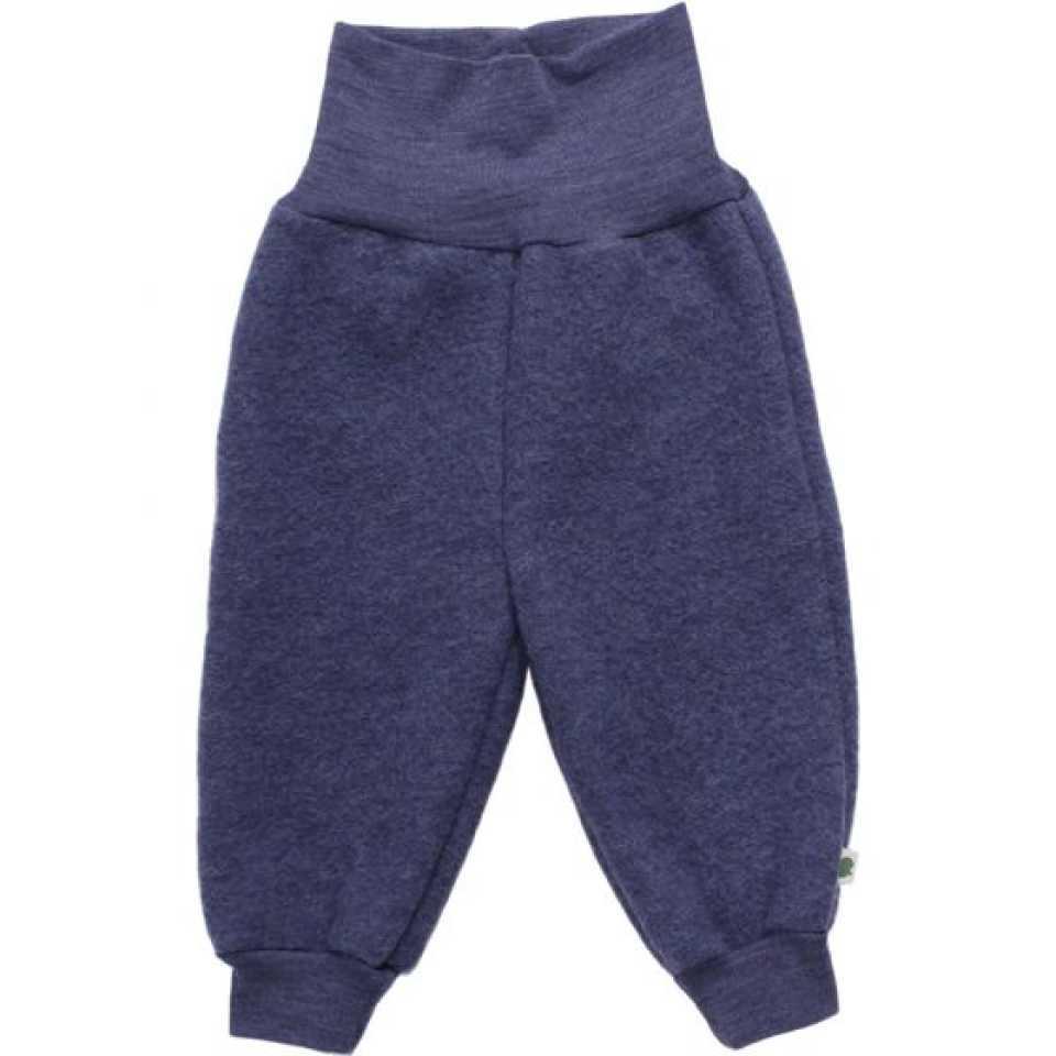 Pantaloni bleumarin din lână merinos pentru copii