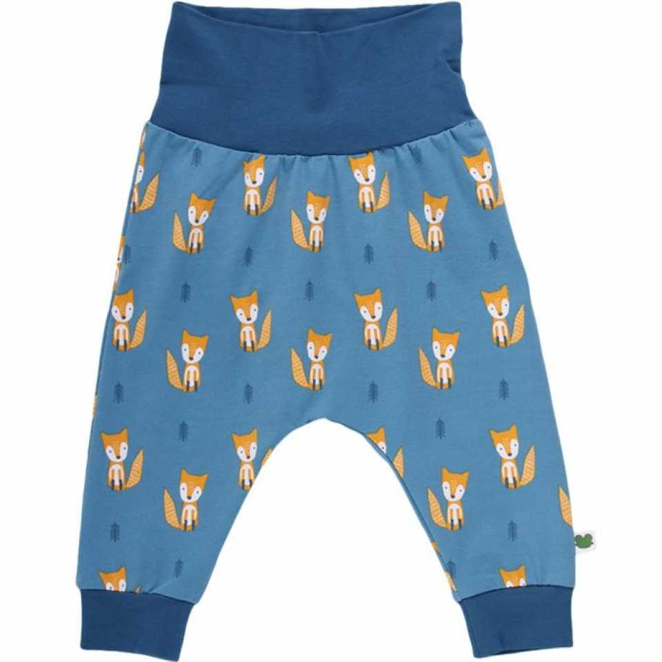 Pantaloni lungi cu imprimeu vulpițe