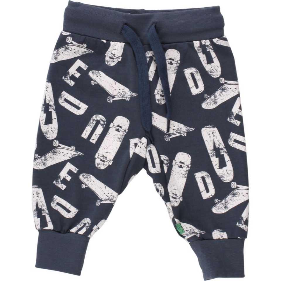 Pantaloni bleumarin cu șiret în talie