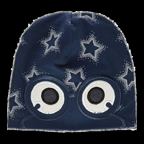 Căciulă bleumarin cu imprimeu steluțe și ochi