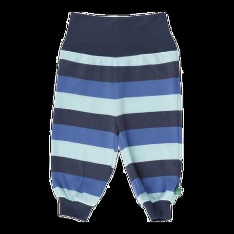 Pantaloni confortabili cu dungi albastre