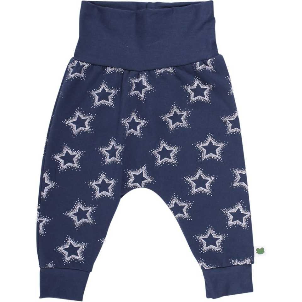 Pantaloni bleumarin cu imprimeu steluțe