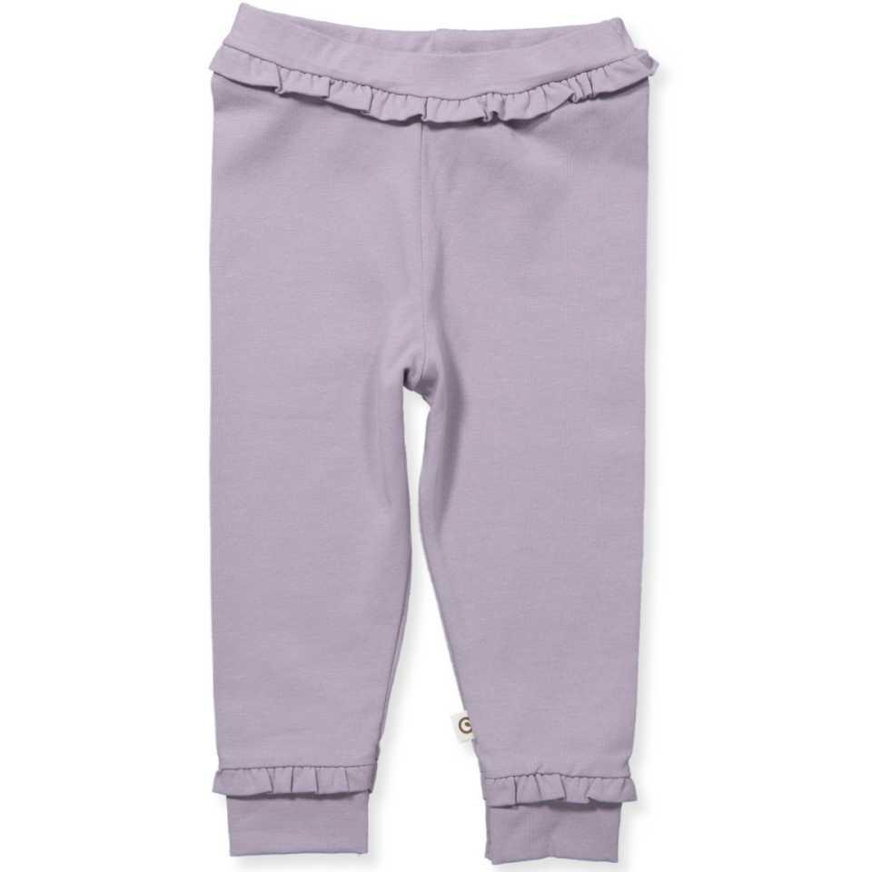 Pantaloni lila cu volane