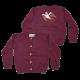 Cardigan mov prună tricotat cu rândunică pe spate