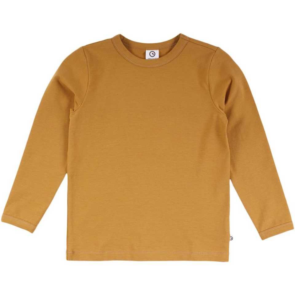 Bluză uni galben muștar cu mânecă lungă