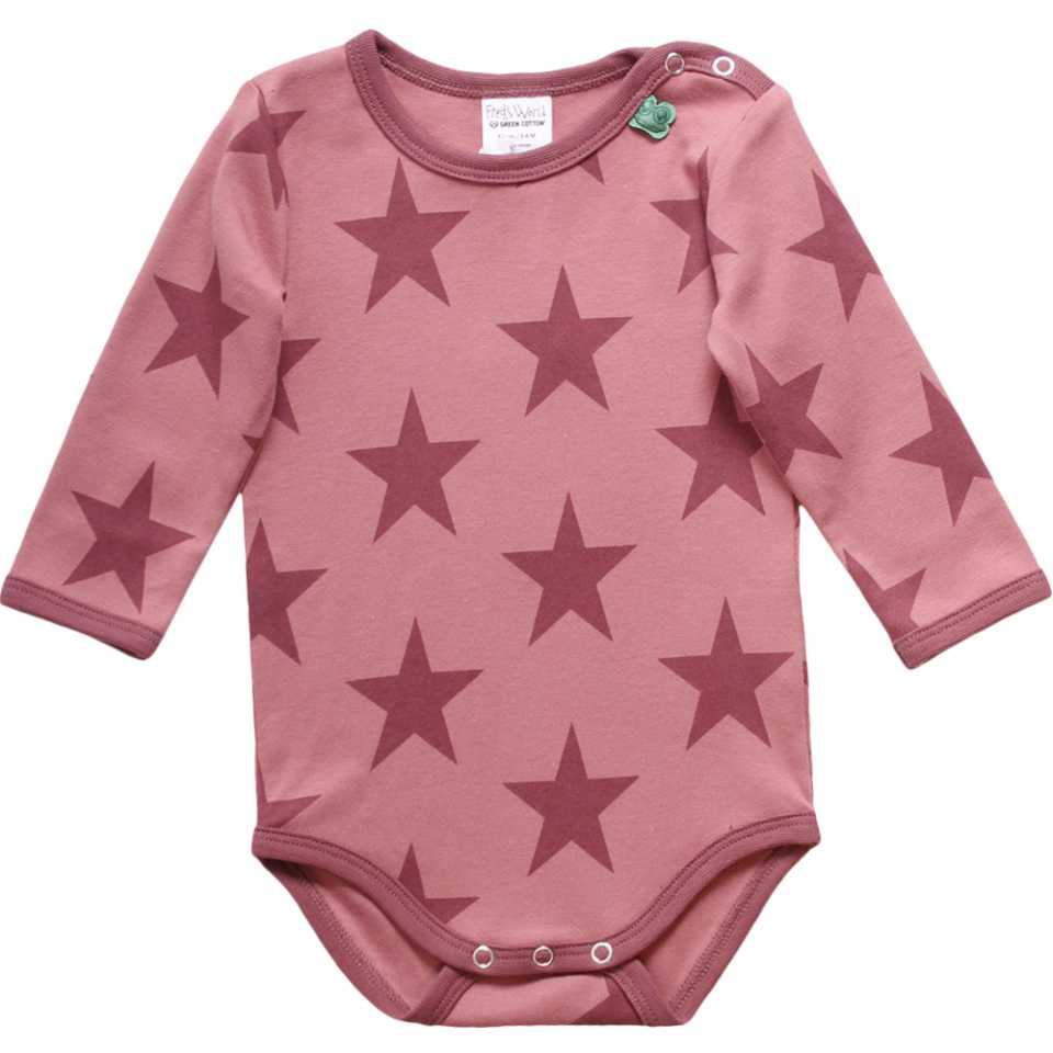 Body roz cu imprimeu steluțe pentru bebeluși
