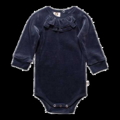 Body bleumarin din catifea pentru copii