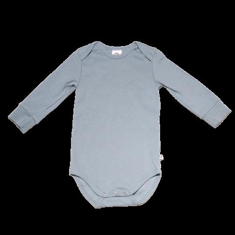Body din bumbac organic cu mânecă lungă pentru bebeluși