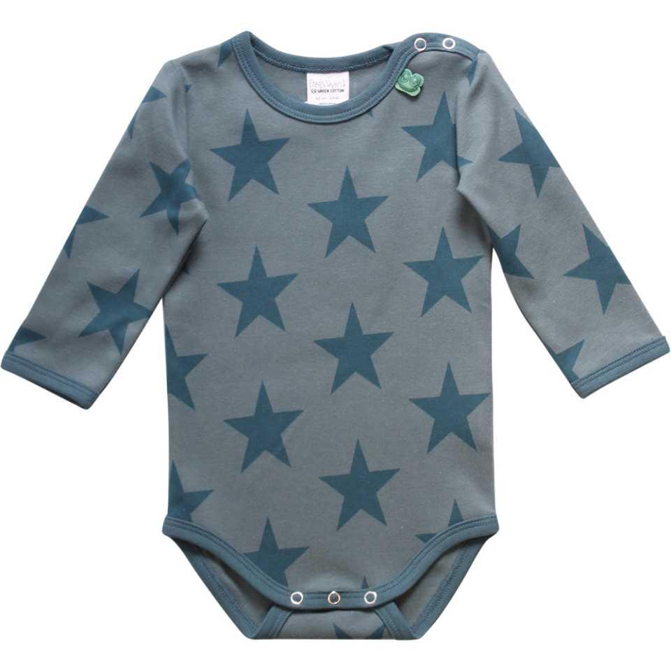 Body cu mânecă lungă și imprimeu steluțe albastre
